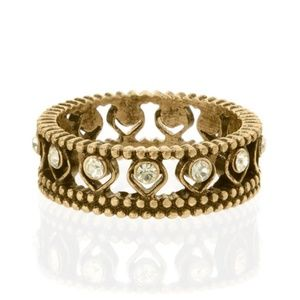 Chloe + Isabel Jewelry - Chloe + Isabel Golden Lotus Crystal Ring